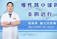 慢性腎小球腎炎的治療