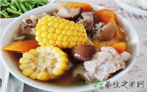 粟米香菇排骨汤的营养价值
