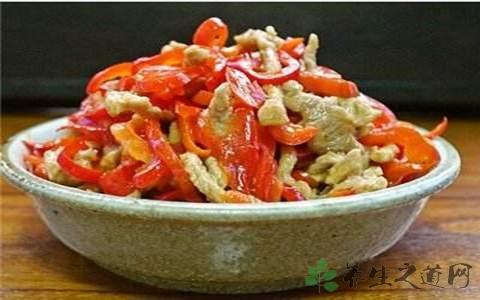 甜椒肉丝的营养价值
