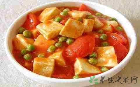 番茄豆腐炒肉片的营养价值