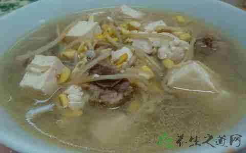 做黄豆芽调料食谱汤放排骨_豆腐_v调料之菜谱家常菜南京图片