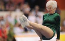 德86岁老太参加体操比赛,观众都惊呆了!