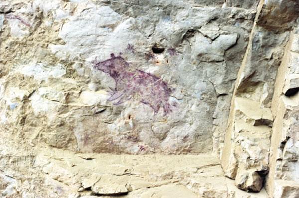 距今一万年前旧石器时代晚期贵州贞丰红岩壁画