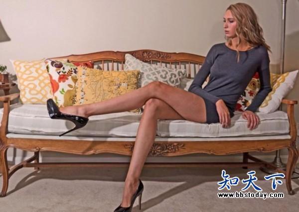 美国模特劳拉腿长1